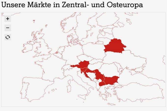 A1 Telekom Austria Länder